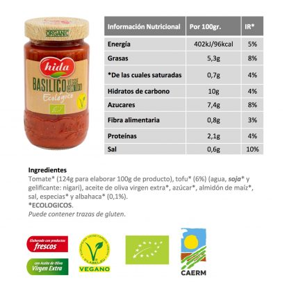 hida basilico salsa nutri