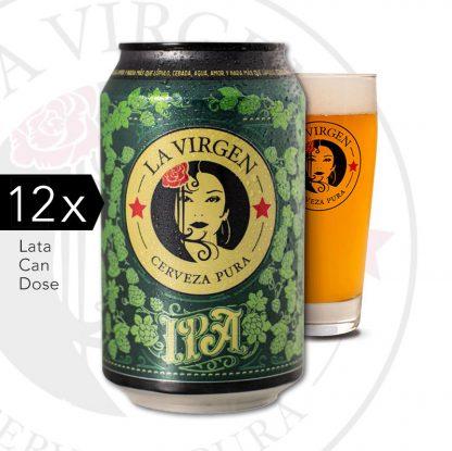 cerveza artesana la virgen IPA lata x 12 agradar.es