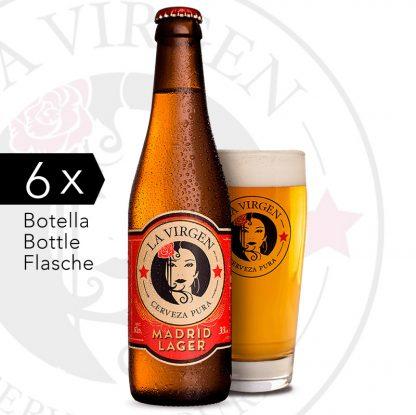 pack 6 cerveza Lager la virgen shop.agradar.es