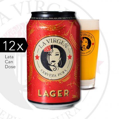 cerveza artesana la virgen Lager lata x12 agradar.es
