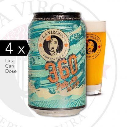 360 pale ale cerveza la virgen
